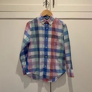Boys Buffalo Plaid Button Front Crewcuts Shirt